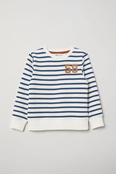 Sweatshirt - White/Blue striped - Kids | H&M