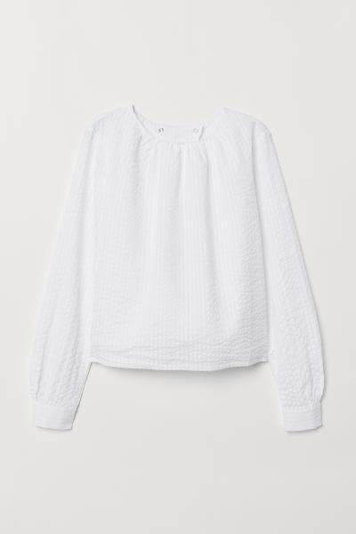 H&M - Blusa de sirsaca - 5