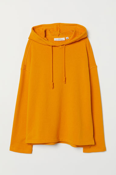 Hooded top - Dark yellow - Ladies | H&M CN