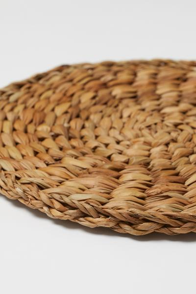 H&M - Round seagrass table mat - 3