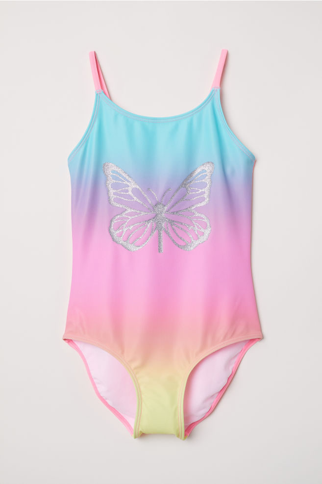 eb48104d7c372 Swimsuit - Pink Butterfly - Kids