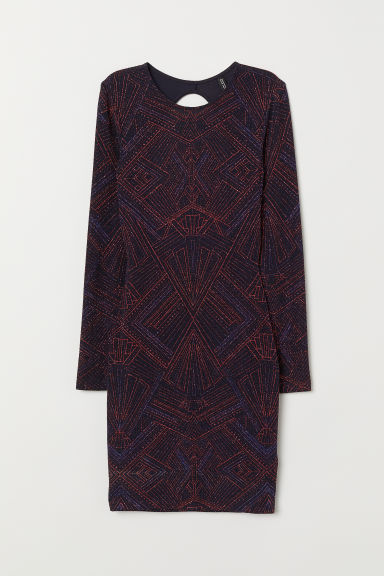 Glittery dress - Dark blue/Red - Ladies | H&M