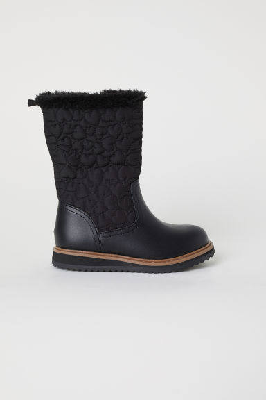 Lined boots - Black - Kids | H&M