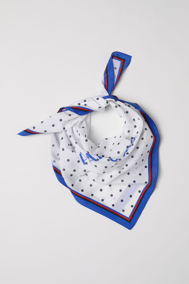 Silk-blend Scarf - White/dotted - Ladies | H&M US