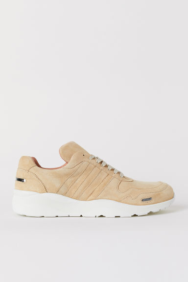 Suede trainers - Light beige - Men | H&M CN