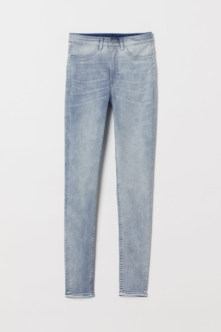 Super Skinny High Jeans - Светлосин деним - ЖЕНИ | H&M BG