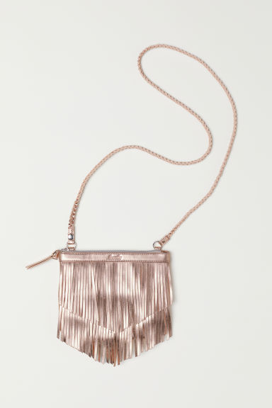 Shoulder bag with fringing - Rose gold-coloured/Metallic - Kids | H&M
