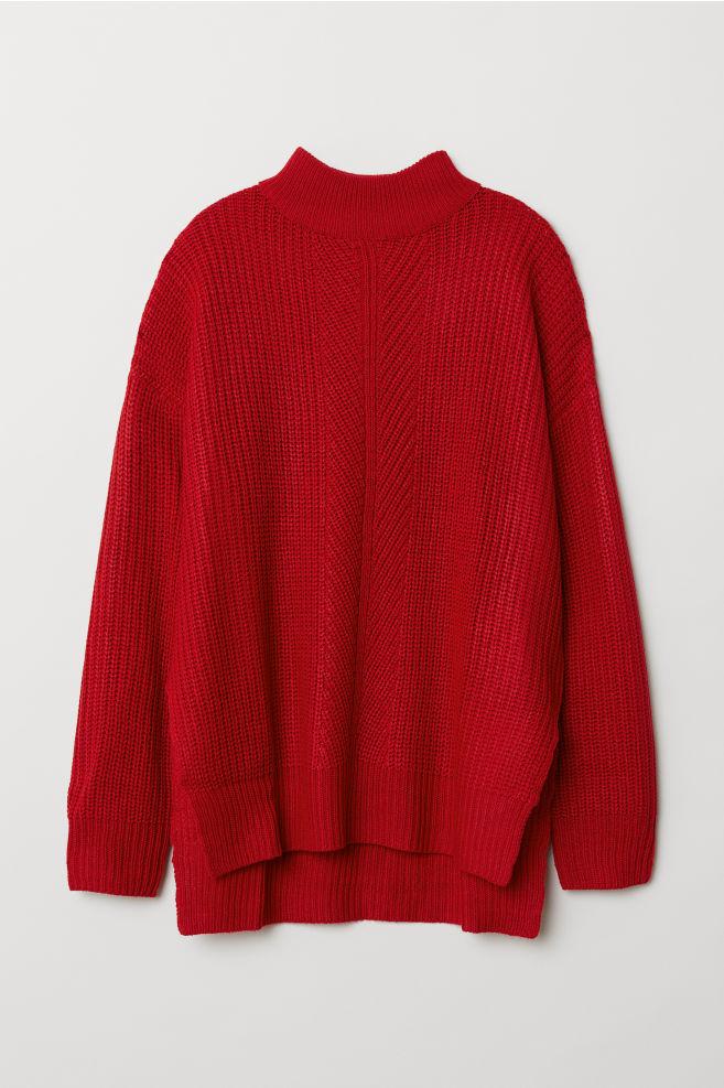 1b3183009f41 Knit Mock Turtleneck Sweater - Red - Ladies