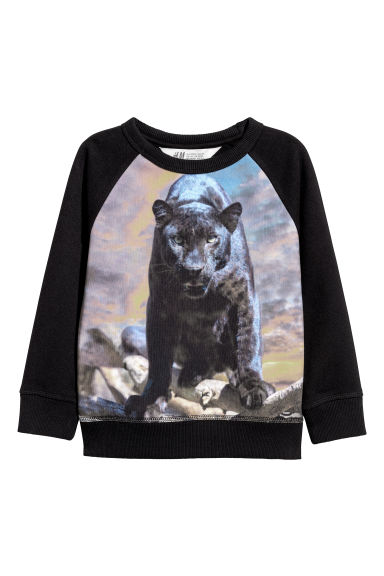 Sweatshirt with a motif - Black/Jaguars - Kids | H&M