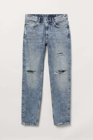 Dad Jeans Trashed - Blau Washed out - Men | H&M AT
