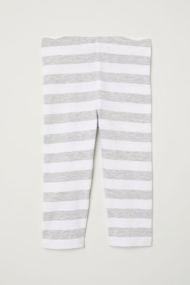 3/4-length leggings - White/Striped -  | H&M