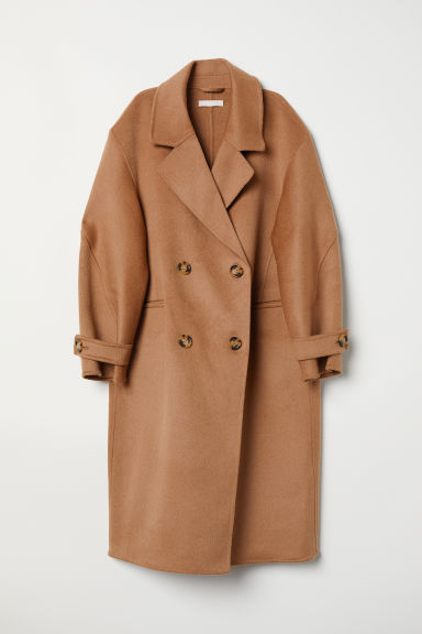 Cashmere-blend Coat - Dark beige - Ladies | H&M US