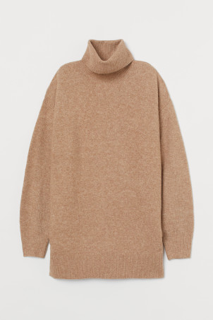 Pullover a dolcevita oversize