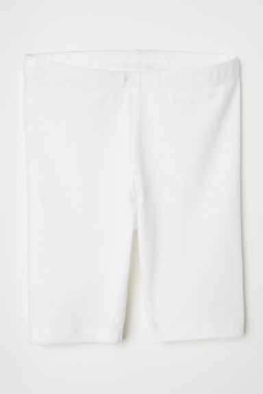 Short cycling shorts - White - Kids | H&M