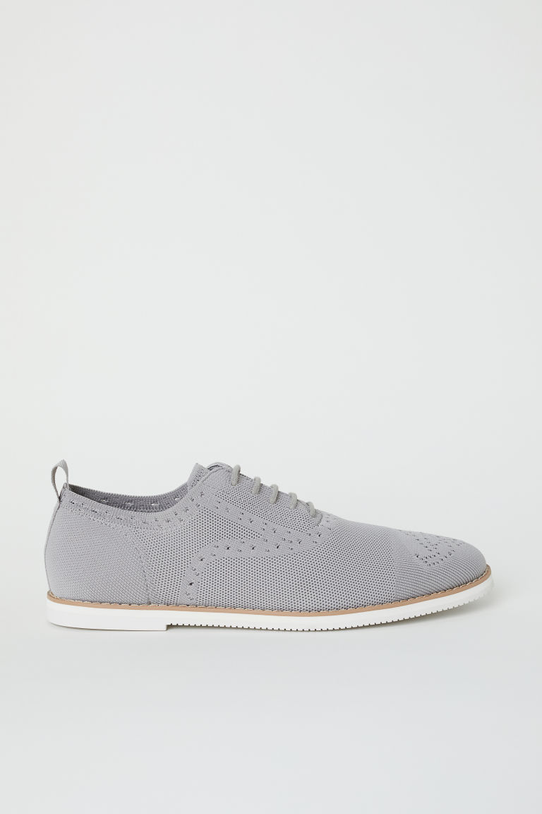 Fully-fashioned Oxford shoes - Light grey - Men | H&M CN