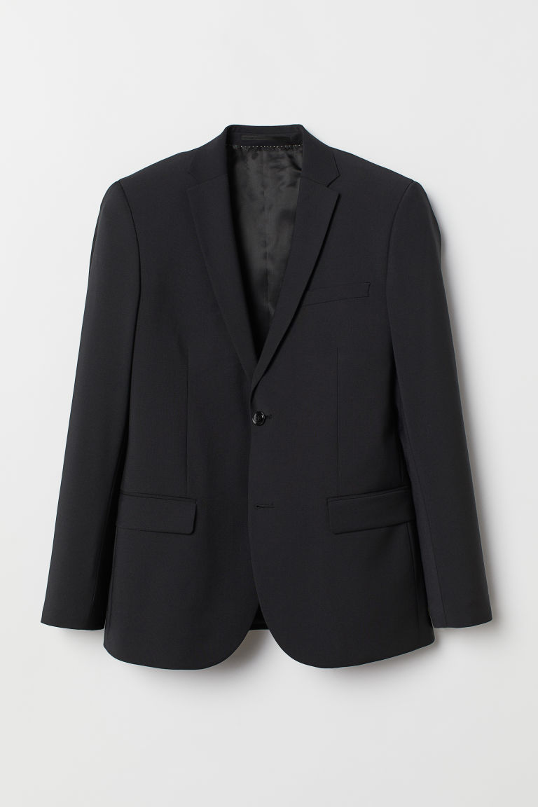 Wool-blend jacket Regular Fit - Black -  | H&M CN
