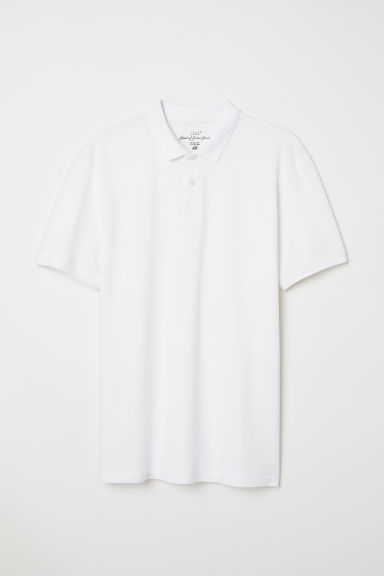Short-sleeved polo shirt - White - Men | H&M CN