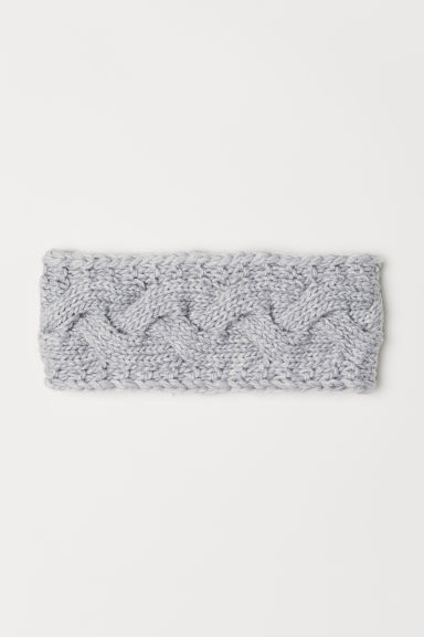 Textured-knit hairband - Light grey marl -  | H&M CN