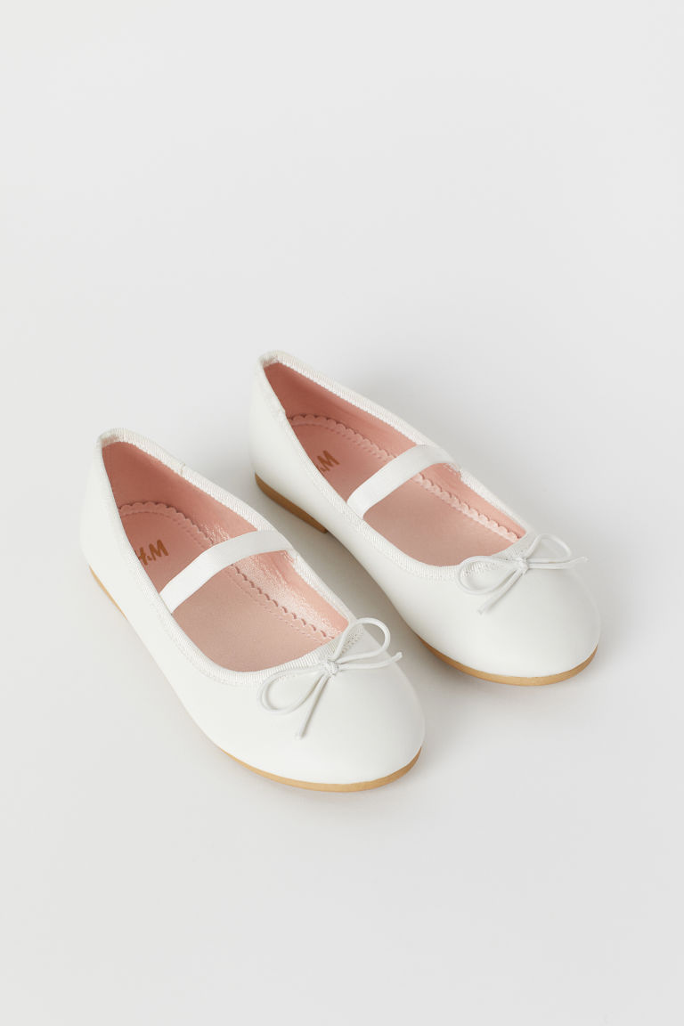 Ballet pumps - White -  | H&M