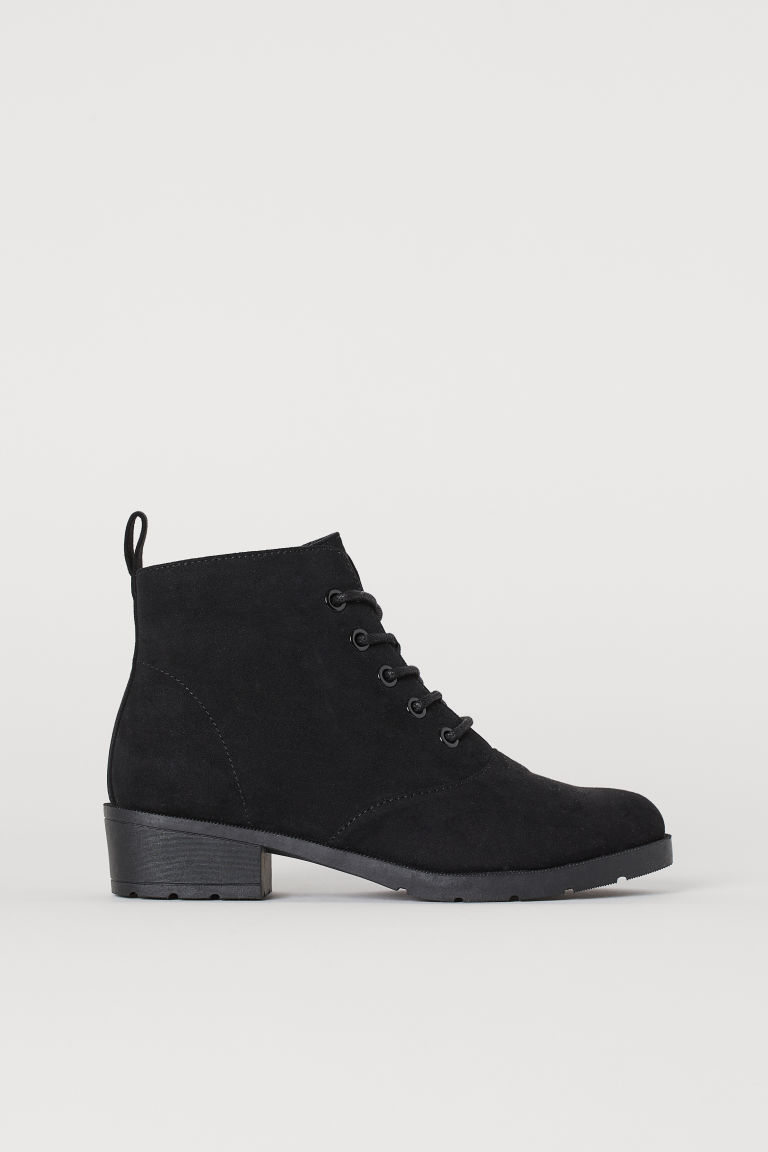 Ankle Boots - Black/faux suede - Kids | H&M US