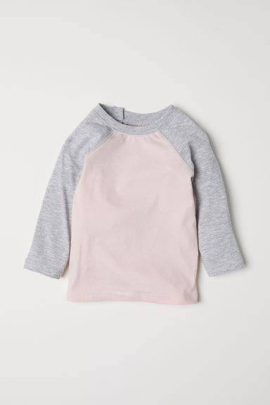 Long-sleeved T-shirt - Light pink - Kids | H&M