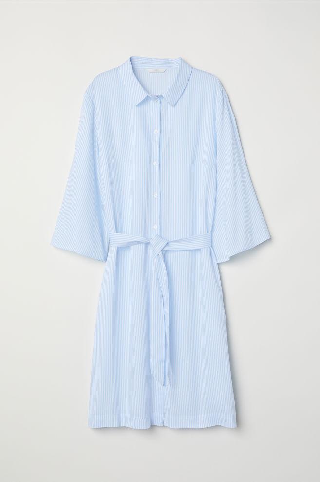 6e1701fa2b Shirt Dress - White/blue striped - Ladies | H&M ...