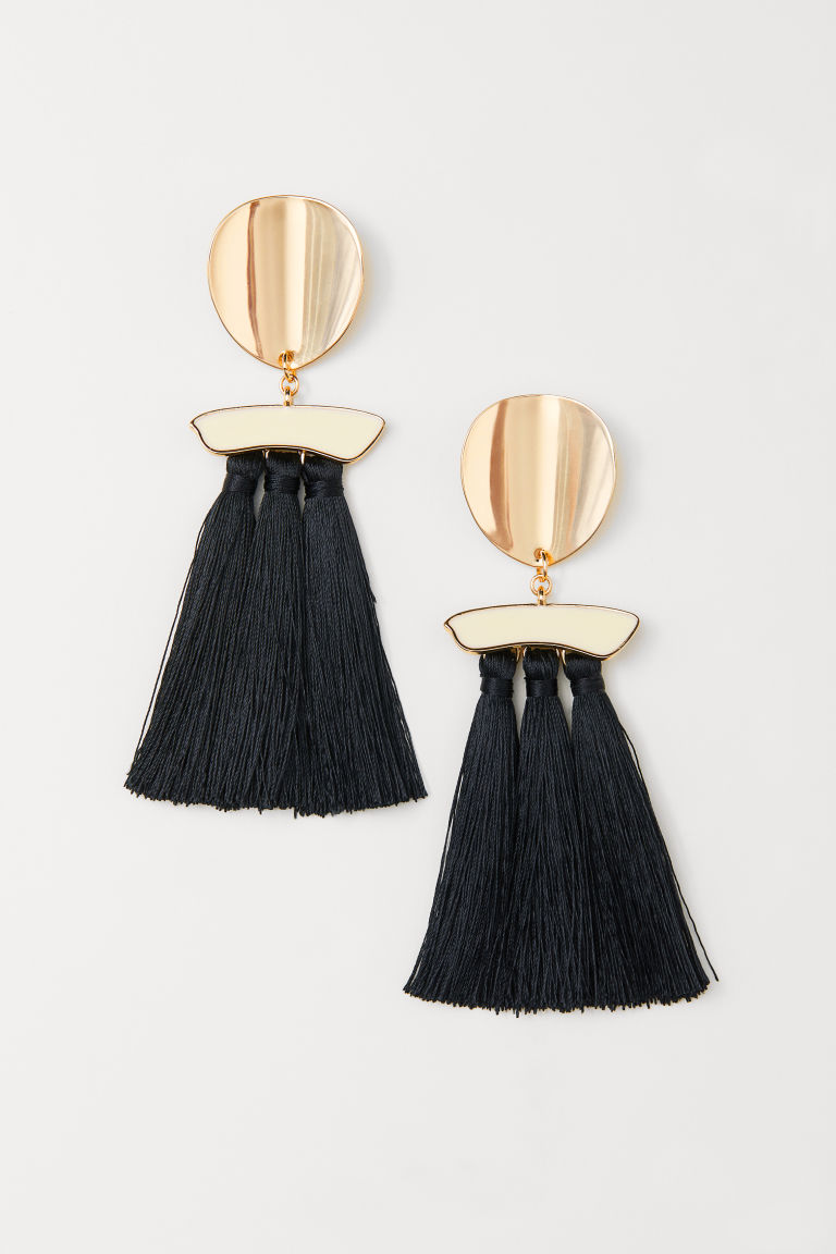Long Earrings - Gold-colored/black - Ladies | H&M US