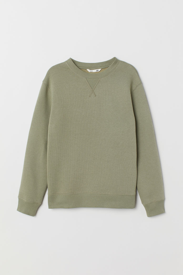Sweatshirt - Khaki green - Kids | H&M IE