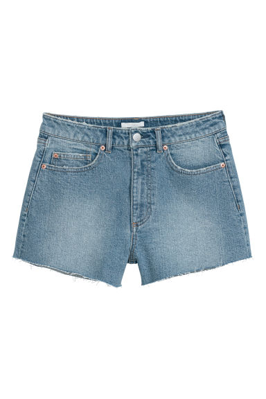 Denim shorts - Light denim blue - Ladies | H&M CN