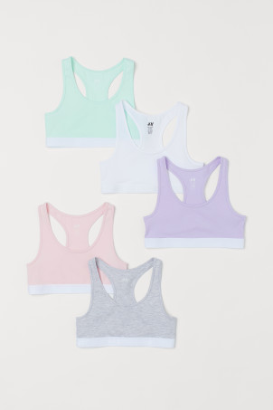 5-pack cotton crop tops