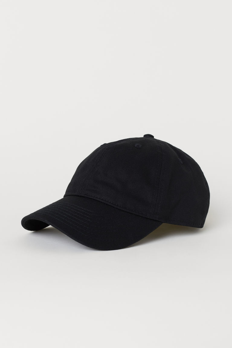 Cotton twill cap - Black - Men | H&M