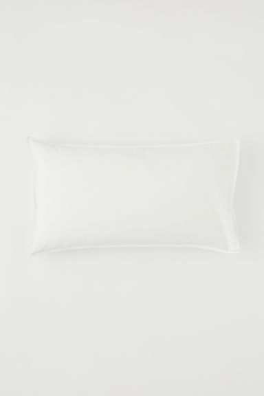 Washed cotton pillowcase - White - Home All | H&M CN