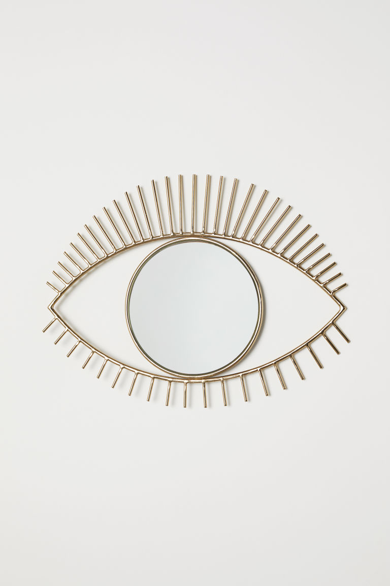 Eye-shaped Mirror - Gold-colored - Home All | H&M CA