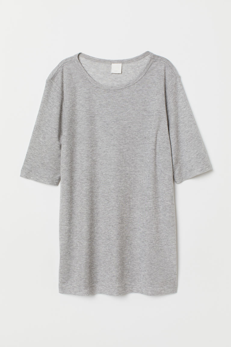 Jerseyshirt - Graumeliert - Ladies | H&M AT