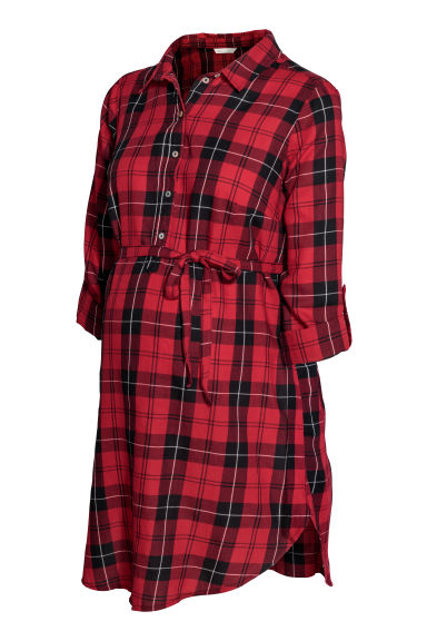 MAMA Shirt tunic - Red/Black checked -  | H&M CN