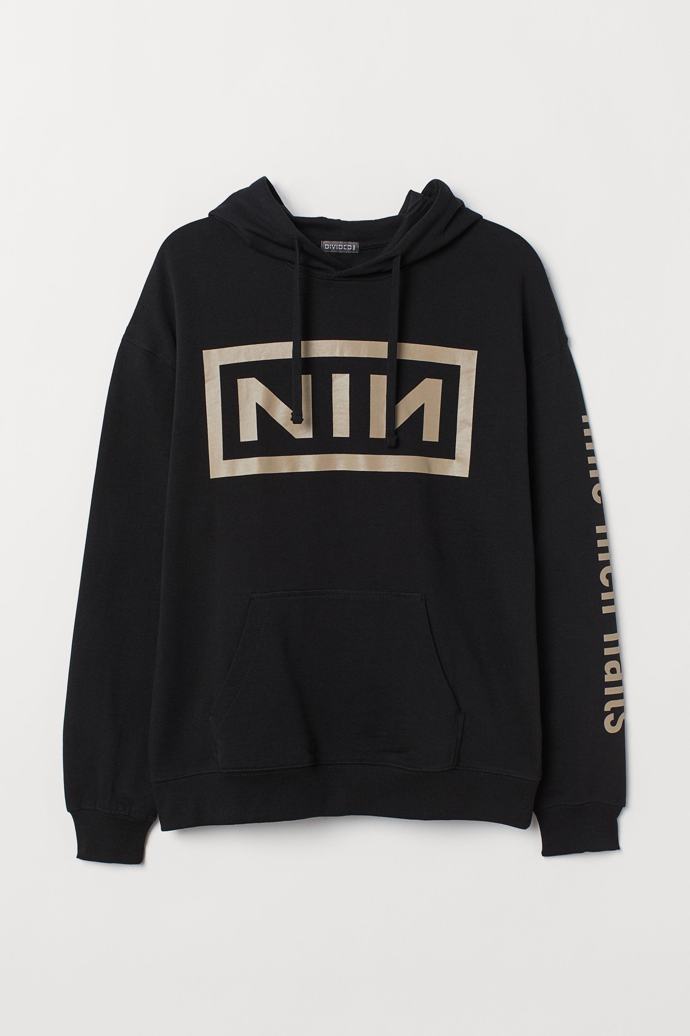 89847ba88e1 Printed Hooded Sweatshirt