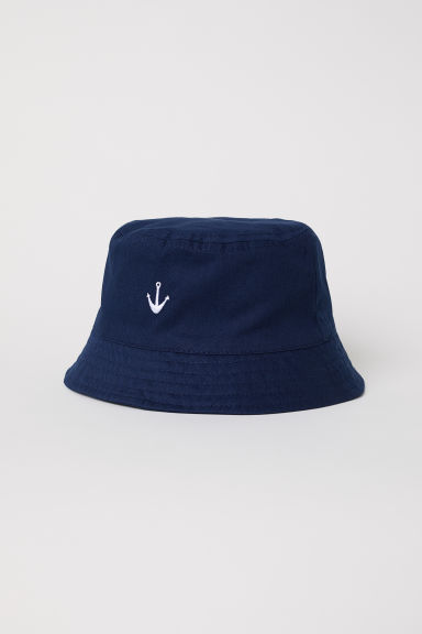 Cotton fisherman's hat - Dark blue -  | H&M