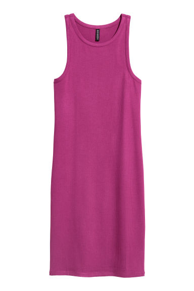 Abito in jersey a costine - Magenta - DONNA | H&M CH
