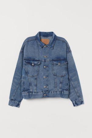 Chamarra oversized de denim