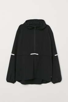Hooded popover running jacketModel
