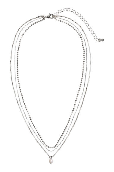 Three-strand necklace - Silver-coloured -  | H&M IE