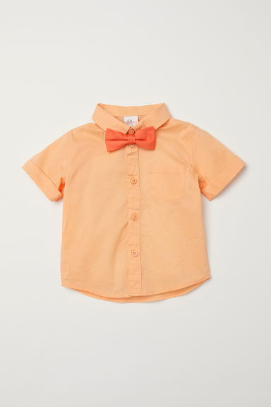 Shirt and bow tie - Light orange -  | H&M