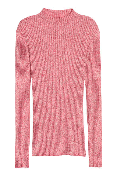 Ribbed jumper - Red/White marl - Ladies | H&M CN