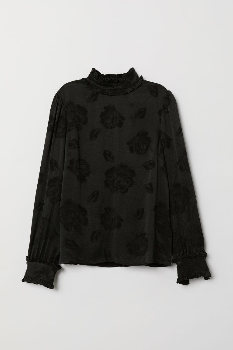 Jacquard-weave blouse - Black - Ladies | H&M GB 5
