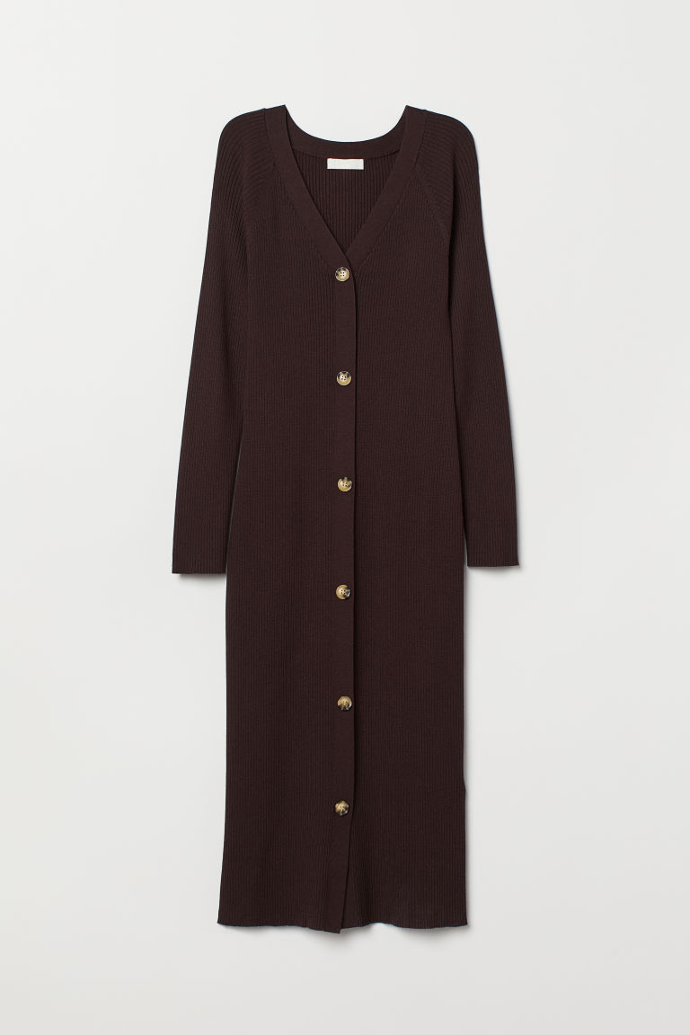 Fitted Dress - Dark brown - Ladies | H&M US