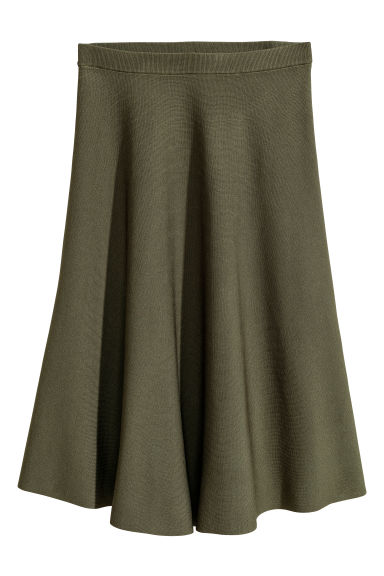 Calf-length skirt - Dark green - Ladies | H&M CN