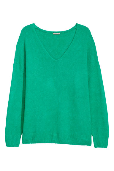 H&M+ V-neck jumper - Bright green -  | H&M