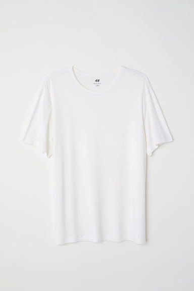 Viscose jersey T-shirt - Natural white -  | H&M