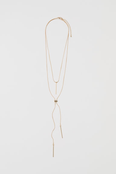 2-pack necklaces - Gold-coloured - Ladies | H&M CN