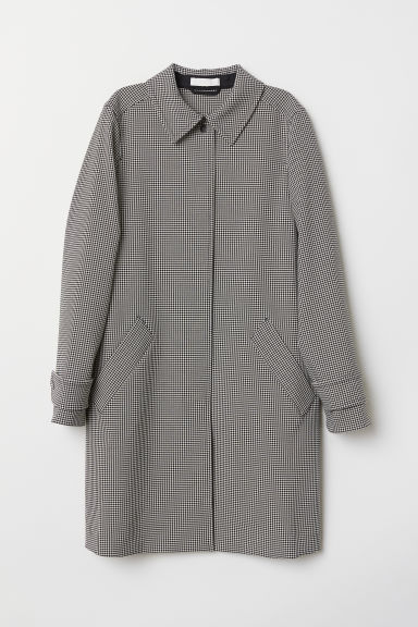 Patterned coat - Black/Dogtooth-patterned - Ladies | H&M CN